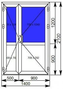 Дверь Алютех W62